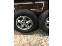 Landrover disco alloys and tyres
