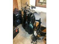 2 Full sets of Golf Clubs and Trolley