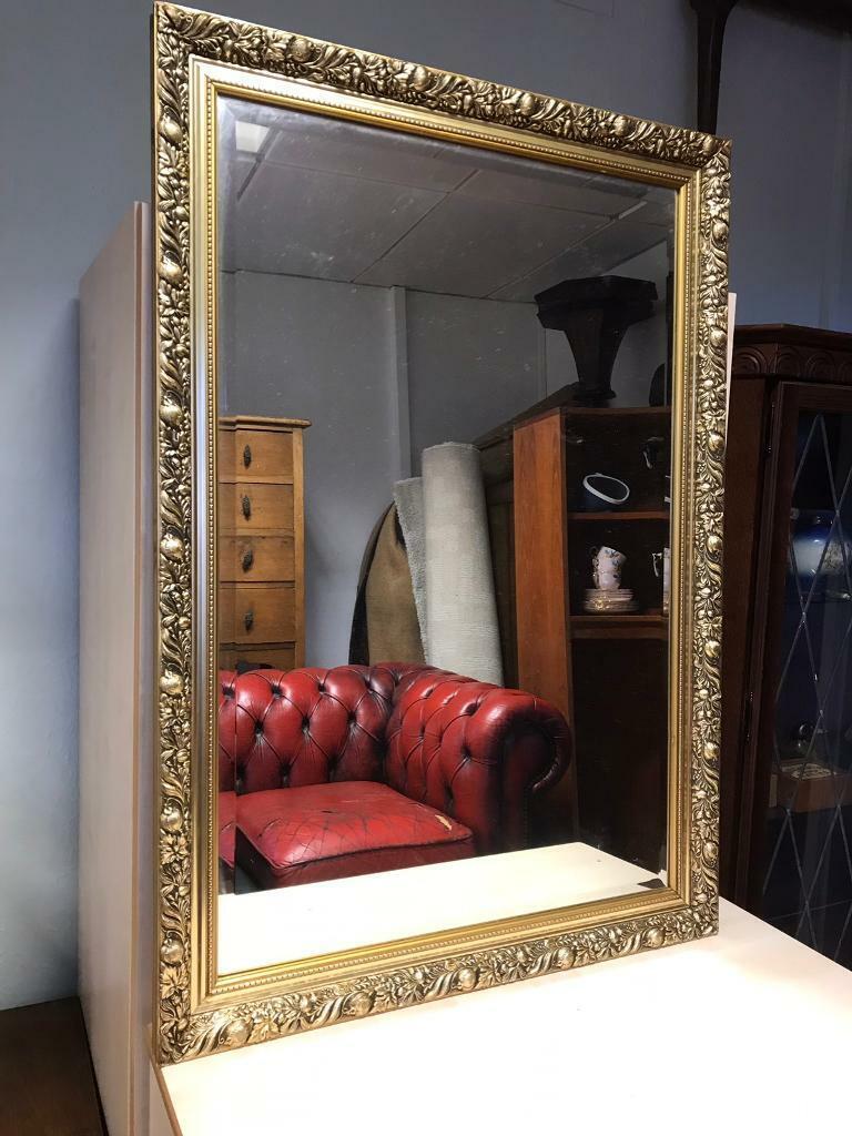 2d1af9d235d2 Large Gilt framed mirror 69x99cm