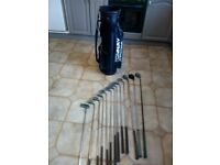 Set of 13 golf clubs and bag