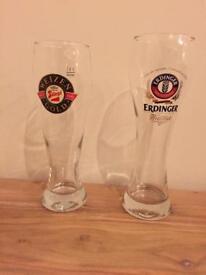 Beer Glasses German (Erdinger and Weizen Gold)