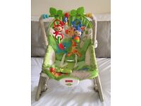 Fisher price rainforest baby rocker with vibration. Excellent condition.