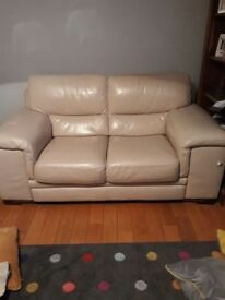 3 & 2 seater high grade cream leather