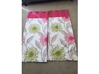 Pair of floral curtains