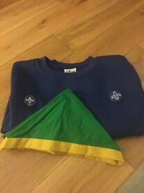 beavers blue jumper and woggle 9-10