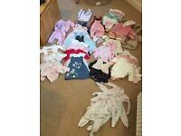 Huge bundle baby girls 0-3 month clothes