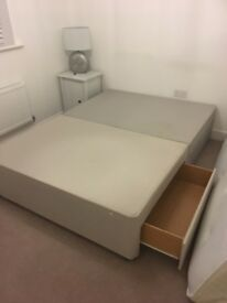 Double divan bed (base only)