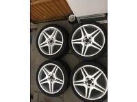 Genuine Mercedes W221 AMG S Class Alloy Wheels AMG IV 4 Wheels for sale  Woking, Surrey