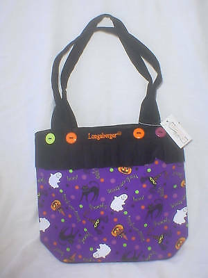 Purse Tote Halloween Party™ Longaberger fabric & Black Canvas new