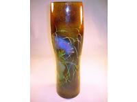 """Vietnam Vase Beautiful Lacquer Flower Motif 19"""" VGC (WH_1336)"""