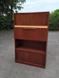 Superb handmade 1960 mid century drinks cabinet sideboard shelving storage