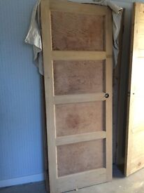 Solid internal wooden doors - dipped and stripped
