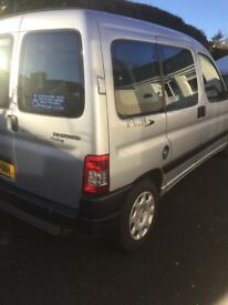 Peugeot partner wheelchair accessible vehicle plus 5 seats very low mileage