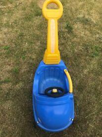 Smoby Push Along Car Blue with parent handle