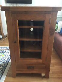 Solid oak entertainment system unit