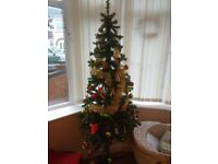Artificial Christmas Tree with decorations