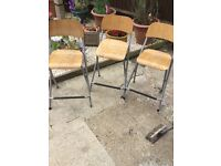 Three IKEA bar chairs foldable RRP £23 each