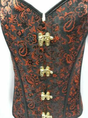 Bustier Basque Red and Black Burlesque Steam Punk Size XXL 16 - 20](Red And Black Burlesque Costume)