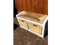 Wicker Drawer Basket Storage