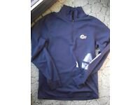 Lowe Alpine mens Navy L/S Zip neck Base layer Medium