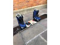 Burton snowboard with K2 boots and binders