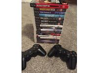 PS3 Games & 2 Controllers