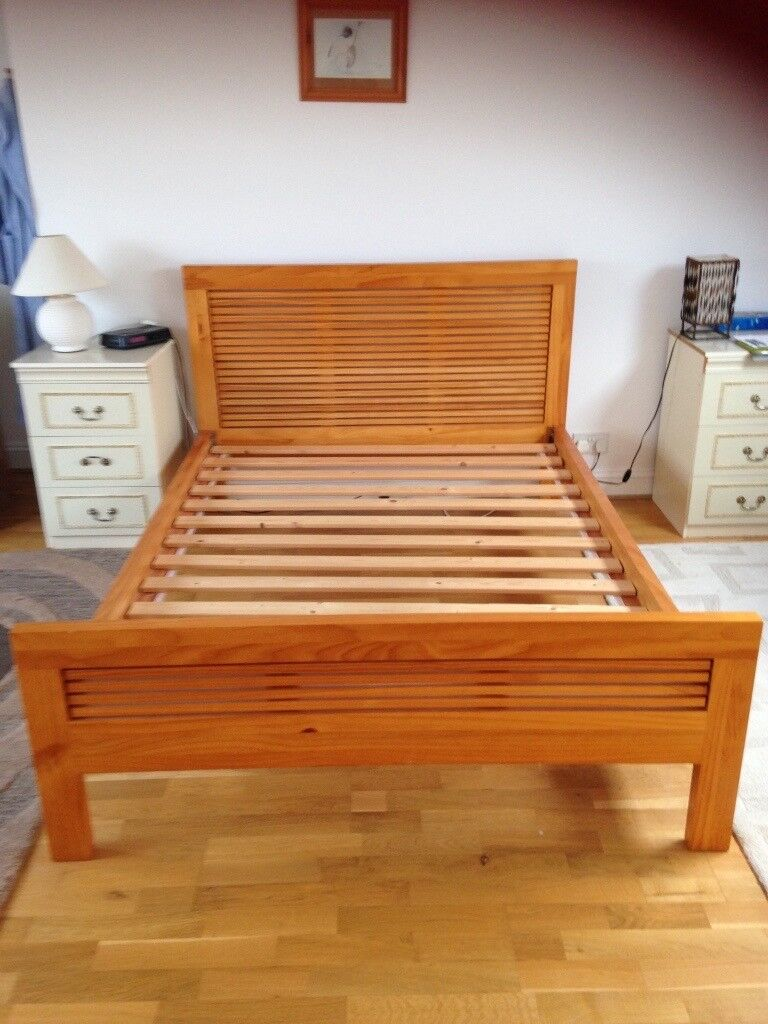 Good quality wooden double bed frame, very easy to assemble