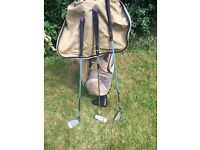 Immaculate condition Ladies 1200 Wilson Golf Clubs Ping bag