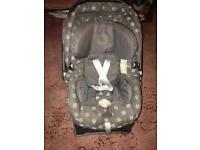 Mamas and papas car seat- comes with base
