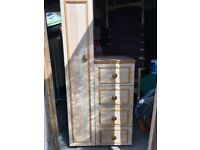 Small wardrobe/4 draw chest unit ideal for a nursery.