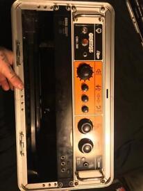 Squire Deluxe Jazz Bass/Orange OB1-300 + more