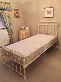 Laura Ashley Single Bed and Mattress