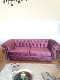 BRAND NEW SOFAS 3 PLUS TWO SEATER DFS COST £995 FOR ONE ONLY £799 FOR TWO SOFAS MULLBERY COLOUR