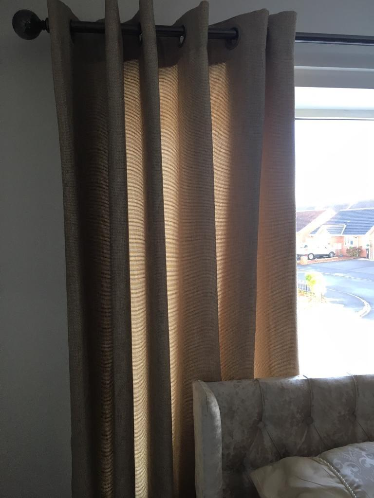 Beige 66 by 90 Curtains
