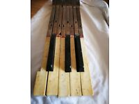 A full set of piano keys - from an 1885 piano - legal ivory covered, and ebony wood
