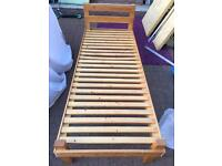Pine single bed with or without mattress