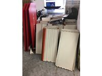 REDUCED! JOB LOT! White Eden Shop Shelving and Racking! All shelving must go!