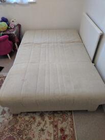 Cream colour Handmade Italian Sofa bed