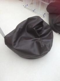 Faux leather bean bags X2