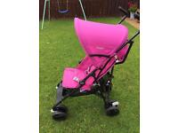Chic Snappy buggy/stroller, folding and reclining.