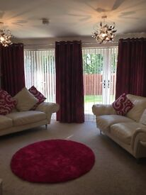 Two sets of lovely curtains and accessories - lovely asset to any home