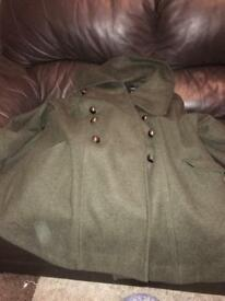 Papaya military cape coat