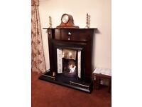 Fireplace. Original 20s oak surround, inset and tiles