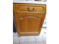 Solid wood kitchen cupboard doors and draws