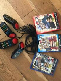 PlayStation 2 Buzz games and 4 controller buttons