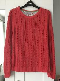 Coral knitted jumper size 12