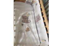 Mothercare Teddy's toy Crib bumper set