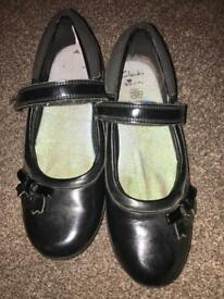 Girls Clark's school shoes - size 1.5F