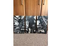 Three pieces large canvas