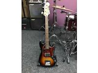 Fender mustang pawn shop bass short scale mint condition